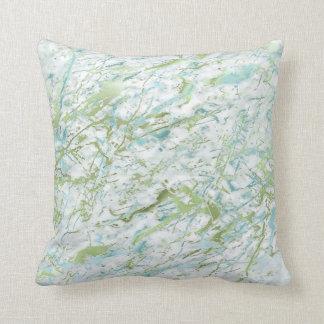 Abstrakt lyx för marmor för vit för Mintgröntblått Kudde