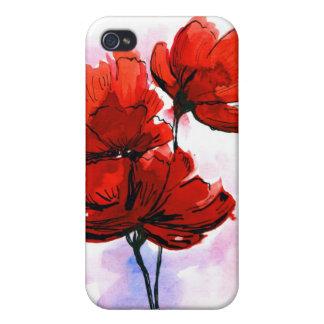 Abstrakt målad blom- bakgrund 2 iPhone 4 fodraler