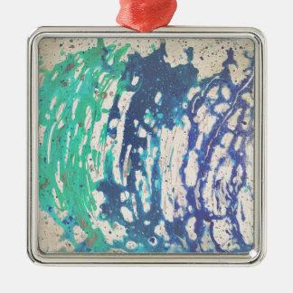 Abstrakt målning för blåttvattendans julgransprydnad metall