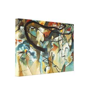 Abstrakt målning för Kandinsky sammansättning V Canvastryck
