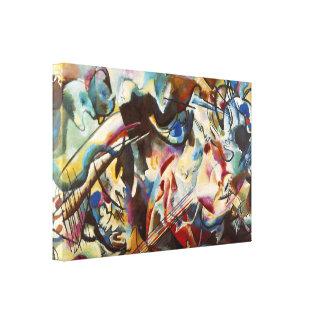 Abstrakt målning för Kandinsky sammansättning VI Canvastryck