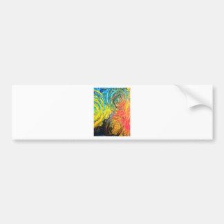 Abstrakt målning för regnbågespiraler bildekal