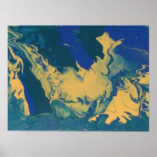 Abstrakt målning vid s.b. Eazle Posters