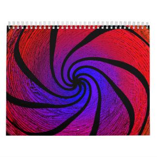 Abstrakt månad vid månad kalender