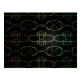 Abstrakt Mång--Färgad linjer Vykort