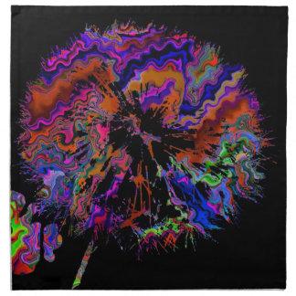 abstrakt maskros (U) Tygservett