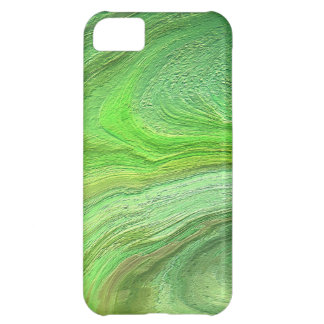Abstrakt metallisk konstgrönt målar iPhone 5C fodral