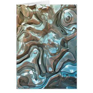 Abstrakt metalliska lagrar hälsningskort