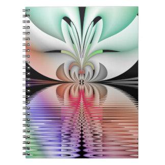 Abstrakt Metamorphosis för Fractal Anteckningsbok Med Spiral