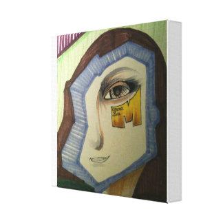 Abstrakt Mona Lisa Canvastryck