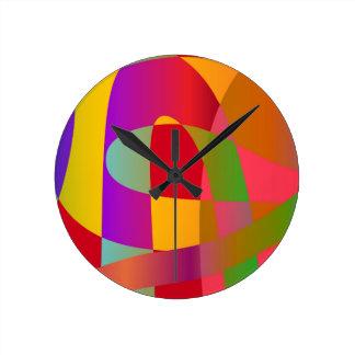 Abstrakt mönster med ljust stilfullt slingra rund klocka