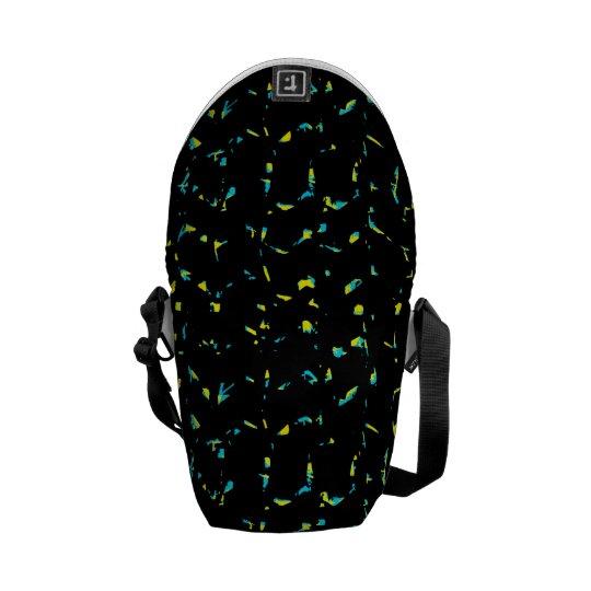 Abstrakt mörkt mönster för Splatter Kurir Väskor