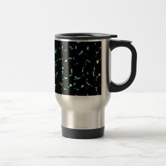 Abstrakt mörkt mönster för Splatter Rostfritt Stål Resemugg