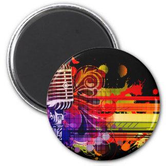 Abstrakt musik magnet