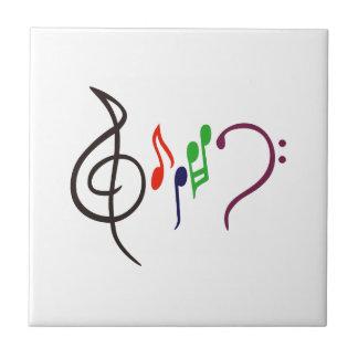 Abstrakt musiklogotyp kakelplatta