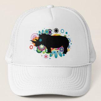 Abstrakt noshörningtruckerkeps keps