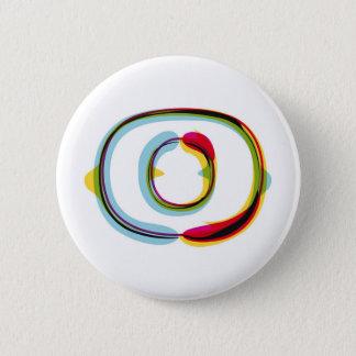 Abstrakt och färgrik brevnolla standard knapp rund 5.7 cm