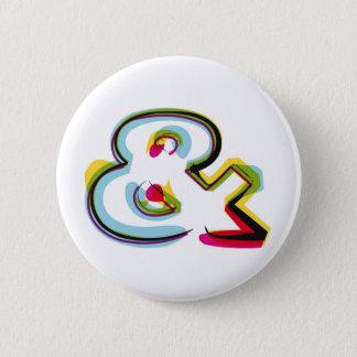 Abstrakt och färgrikt symbol & standard knapp rund 5.7 cm