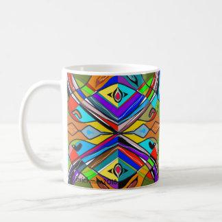 Abstrakt och Jazzy mugg Kaffemugg
