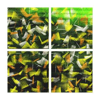 Abstrakt olja & akryl som målar 2 canvastryck