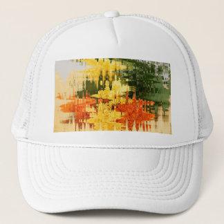 abstrakt orange truckerkeps