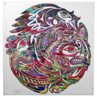 Abstrakt örnbas och stam- konst för björn tygservett