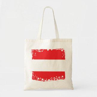 Abstrakt österrikisk flagga tygkasse