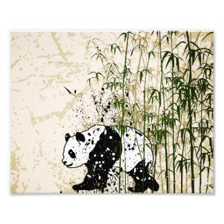 Abstrakt panda i bambuskog fototryck