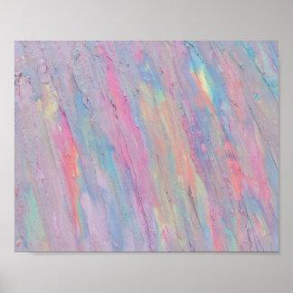 Abstrakt pastell, regnbåge som är handpainted, poster