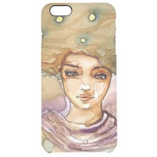 Abstrakt porträtt och sötkvinna clear iPhone 6 plus skal