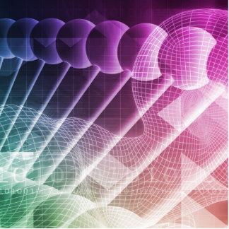 Abstrakt presentationsbakgrund för vetenskap fotoskulptur knapp