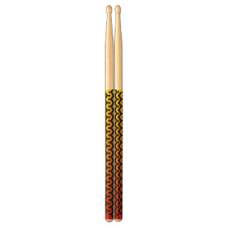 Abstrakt red&yellowdrumsticks trumpinnar