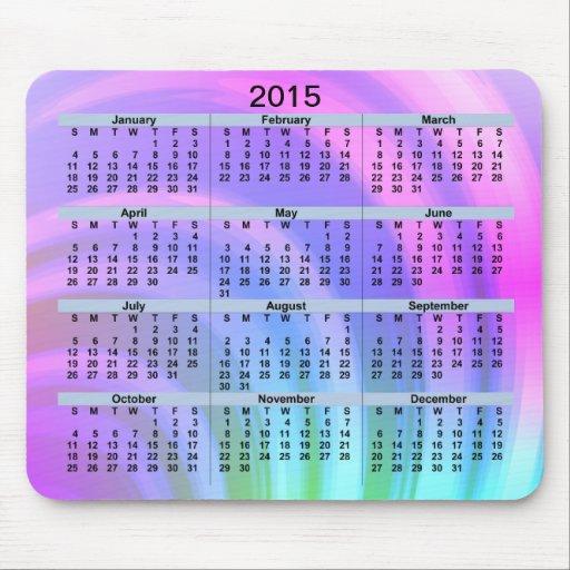 Abstrakt regnbåge för 2015 kalender musmatta