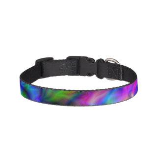 Abstrakt regnbågefärger halsband husdjur