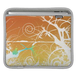 Abstrakt röra sig i spiral och virvlar runt iPad sleeve