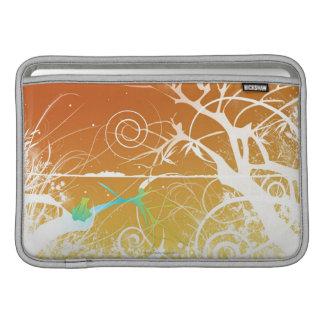 Abstrakt röra sig i spiral och virvlar runt MacBook air sleeve