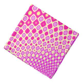 Abstrakt rosa- och vitmönster scarf