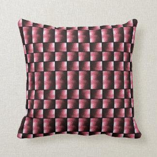 Abstrakt rosor för stenstegemönster tonar kudde