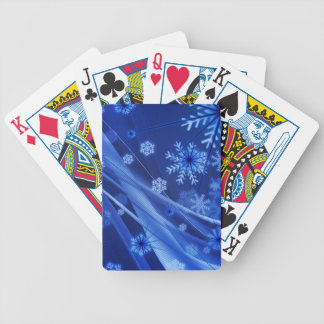 Abstrakt sammansättning för blåttjulsnöflingor spelkort