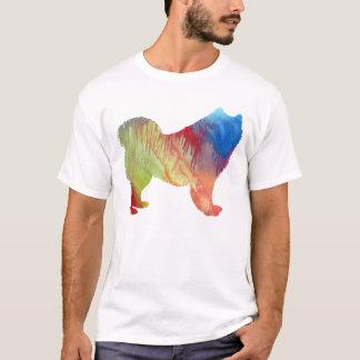 Abstrakt Samoyedsilhouette Tee Shirt