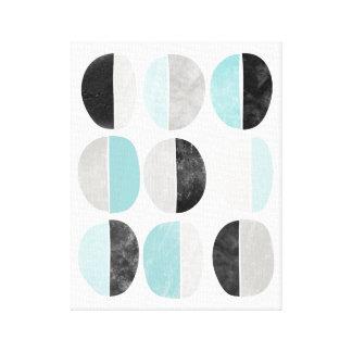 Abstrakt scandinavian, geometrisk kanvastryck