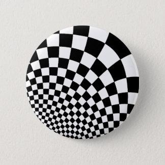 Abstrakt schackbräde för Punk Standard Knapp Rund 5.7 Cm