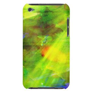 abstrakt seamless bakgrundsgrönt för färg, gult iPod Case-Mate skal