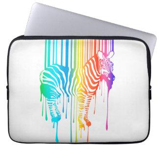 Abstrakt sebra med barcoden laptopskydd