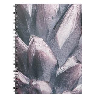 Abstrakt silver broddar Hardcoveranteckningsboken Anteckningsbok