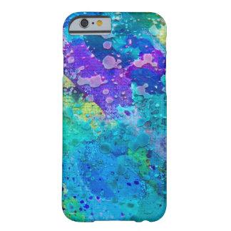 Abstrakt skraj cellfodral för blått och för lilor barely there iPhone 6 skal