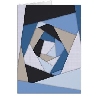 Abstrakt slösar geometriska lagrar hälsningskort