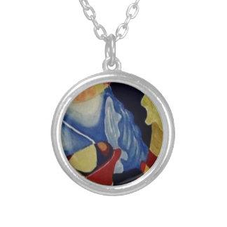 Abstrakt snäckskal silverpläterat halsband