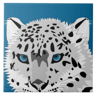 Abstrakt snöLeopard Kakelplatta