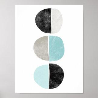 Abstrakt som är geometrisk, halva cirklar poster